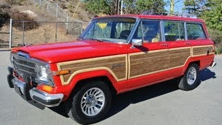Grand Wagoneer AMC Jeep SJ Woodie Video Review 4X4 Red Woody Estate SUV AWD Cherokee(Grand Wagoneer AMC Jeep SJ Woodie Video Review 4X4 Red Woody Estate SUV AWD Cherokee http://www.1ownercarguy.com AMC 360 WOW one of the ..., 2012-11-15T20:53:41.000Z)