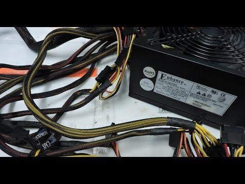 Не включается компьютер (включается с задержкой) Ремонт блока питания, замена конденсаторов.