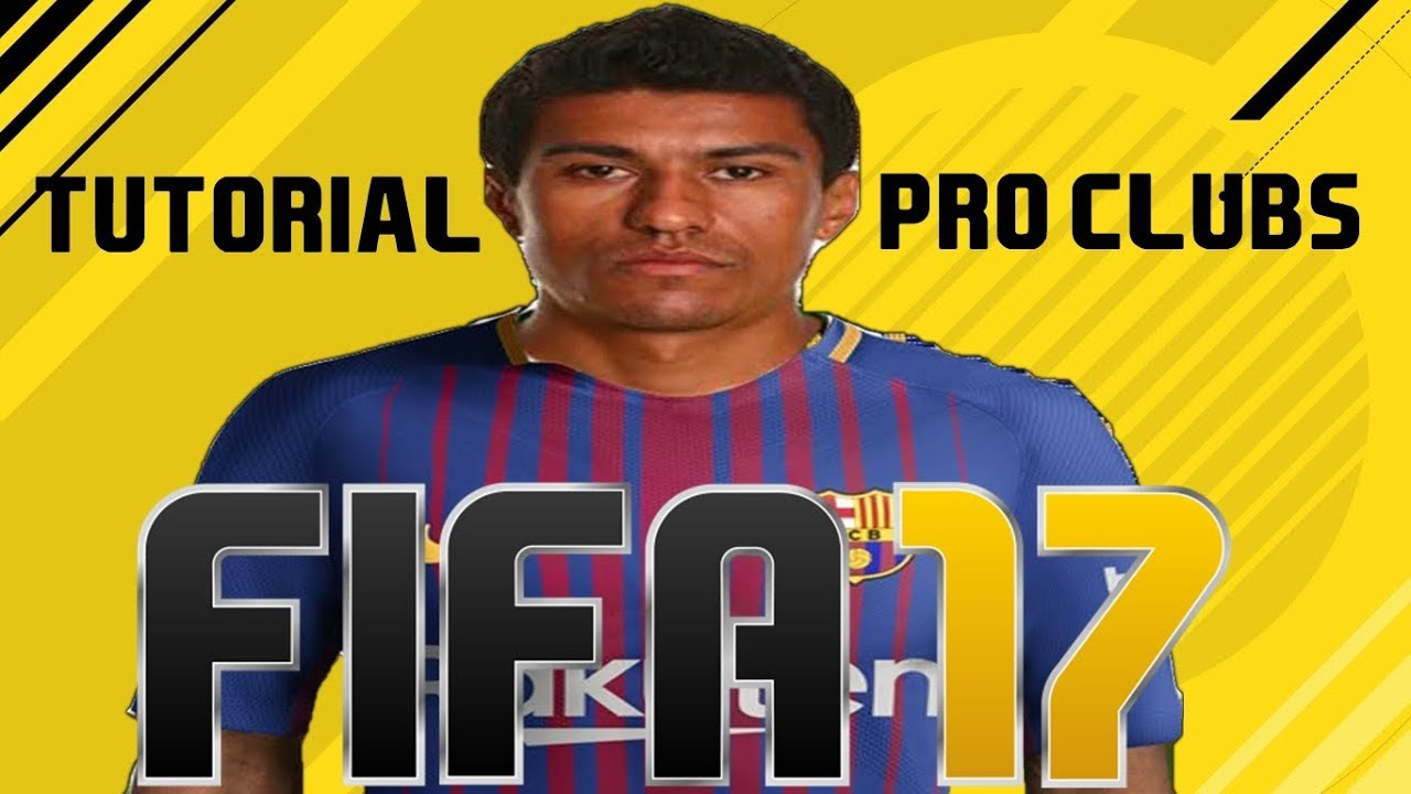 FIFA 17 TUTORIAL FACE I Paulinho Barcelona FC [Pro Clubs