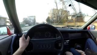 Audi 80 B3 езда от первого лица. First-person driving Audi 80 B3