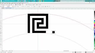 Corel Draw Tips & Tricks Greek Pattern Round simple part 2