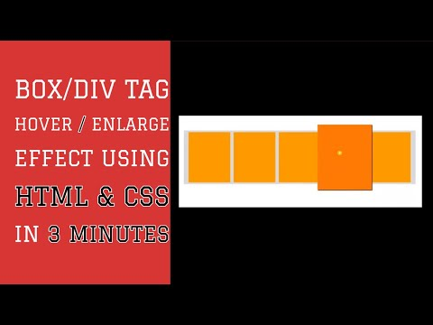Box / Div Tag Hover / Enlarge Effect Using HTML & CSS