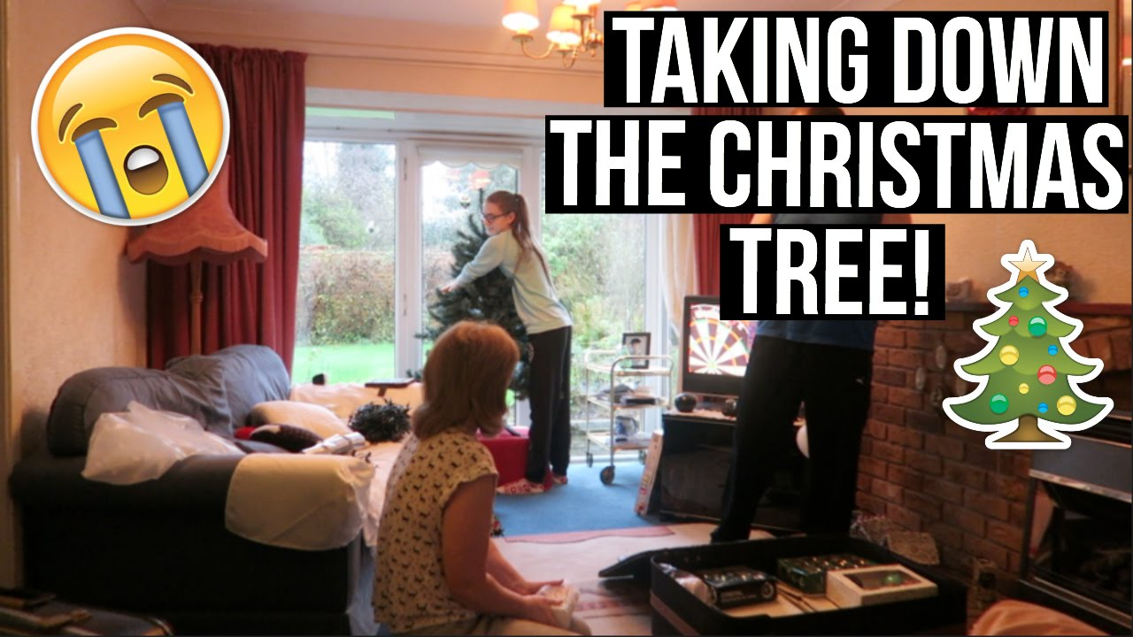 TAKING DOWN THE CHRISTMAS TREE! - YouTube