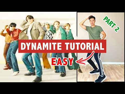 BTS DYNAMITE DANCE TUTORIAL (Part 2)