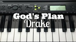 God's Plan - Drake | Easy Keyboard Tutorial With Notes (Right Hand)