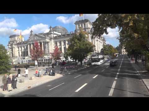 Bus Fahrt in Berlin: Buslinie 100 Zoologischer Garten - Alexanderplatz