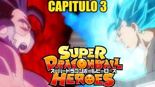 SUPER DRAGON BALL HEROES CAPITULO 3 | VEGETTO SSJ BLUE VS KANBA (Spoilers)