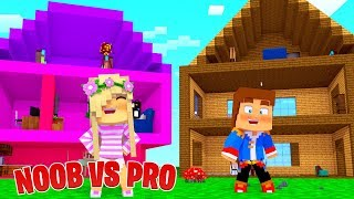 Minecraft NOOB VS PRO : DOLLHOUSE in Minecraft!