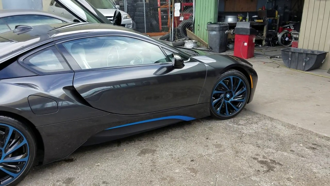 2017 Bmw I8 Custom Painted Wheels To Match Color On Car Youtube