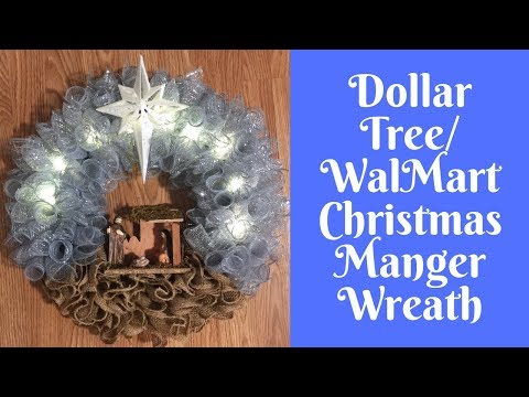 Christmas Crafts: How To Make A Manger Nativity Wreath