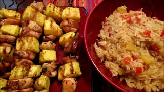 Grilled Chicken And Pineapple Kabobs With Hawaiian Rice Recipe (gluten Free)