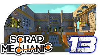 Scrap Mechanic - 13. Base Building & Scissor Lift - Let's Play Scrap Mechanic Gameplay