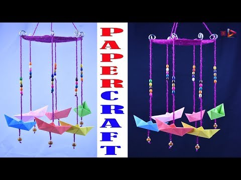 Very Easy DIY Wind Chime | Paper Home Decoration Chime | Wool Jhumar | Wooden Beaded  Wall Hanging