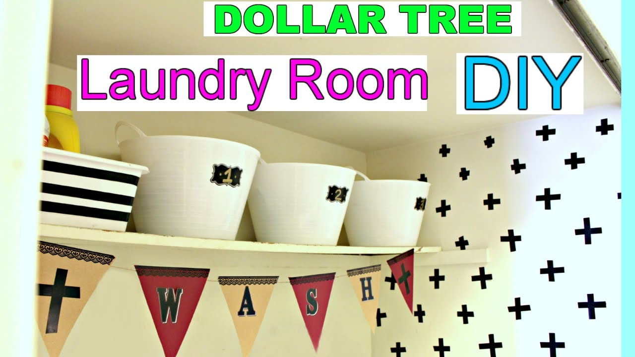 dollar tree laundry room diy apartment decorating ideas sensationafinds - Apartment Diy Decor