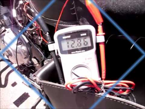 Testing Alternator Output And Battery Voltage Of Royal