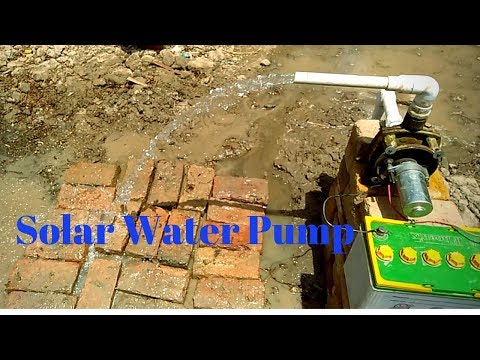 How To Make Old Electricity Pump Convert To Solar Water Pump It Home Diy Project