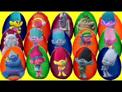 Thumbnail: 30 TROLLS PLAY DOH SURPRSE EGGS with Poppy and Branch, Blind Bags, Mashems Fashems, TOY | TUYC