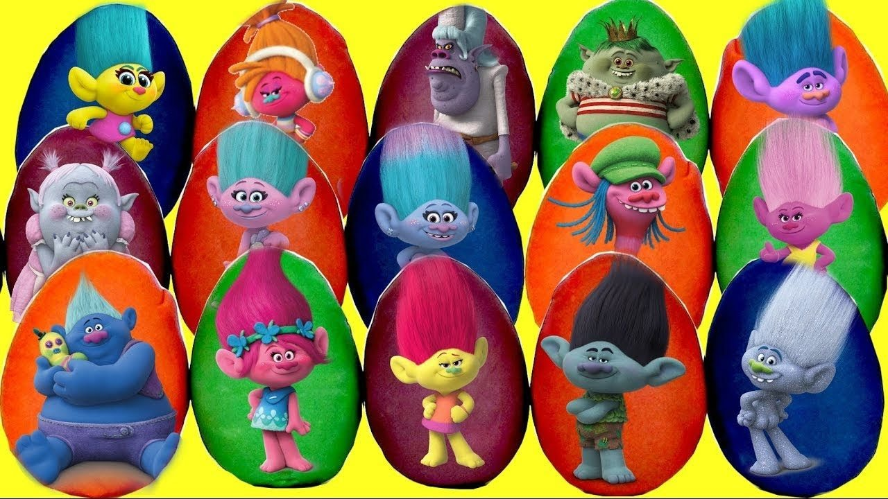 30 TROLLS Play-doh Surprise Eggs with Poppy & Branch