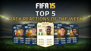 TOP 5 PACK REACTIONS OF THE WEEK FT. LEGEND & TOTS IN A 100K PACK!!! - FIFA 15