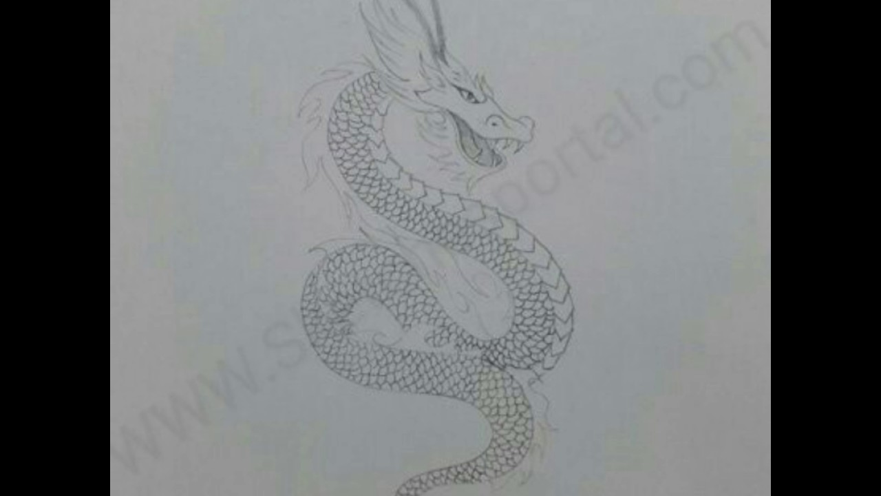 How To Draw A Chinese Dragon In 14 Steps Youtube