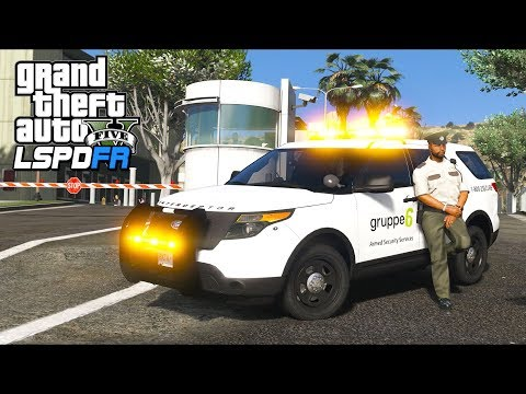 GTA 5 - LSPDFR Ep480 - Armed Security Guard Defends His Post!!