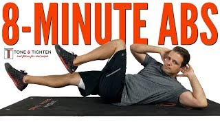8-Minute Ab Workout - Best Exercises To Tighten Your Stomach And Tone Your Six Pack