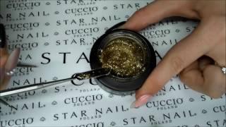 Наращивание френч глиттерным гелем - LED-гели Cuccio Pro T3
