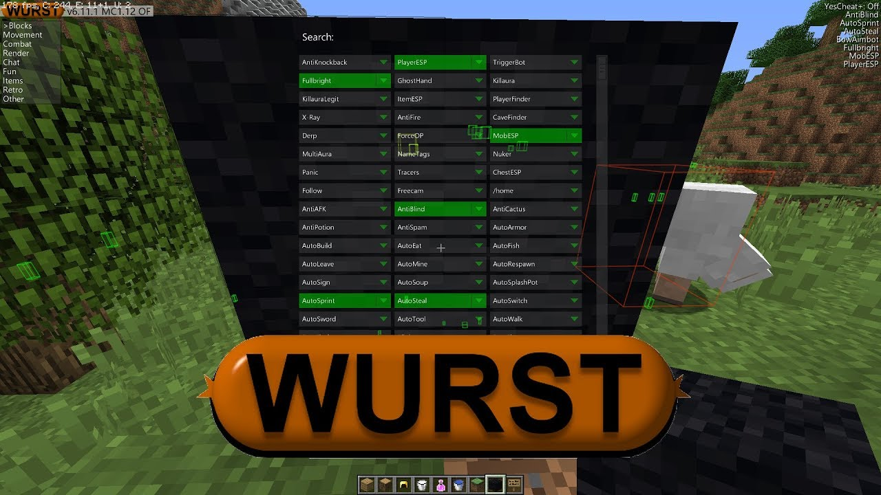 INSTALLER UN HACKED CLIENT SUR MINECRAFT 1.12 (Wurst ...