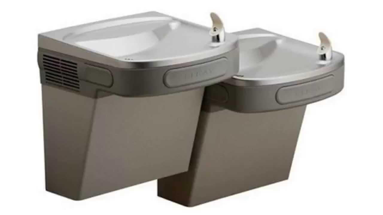 Elkay versatile wall mounted bi-level ada drinking fountain.