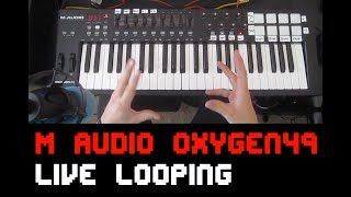 Maudio Jam (Oxygen 49) Live looping playthrough tutorial