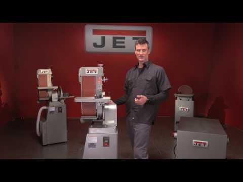 JET Industrial Metal Belt Finishing Machine Demo