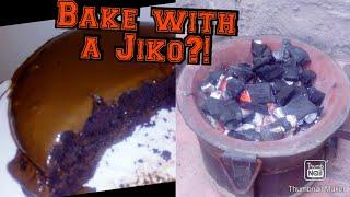 CHOCOLATE CAKE BAKE WITH A JIKO!!!!(NO OVEN)