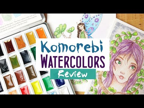 MozArt Supplies Komorebi Watercolor Japanese Paint Set Review and Demonstration