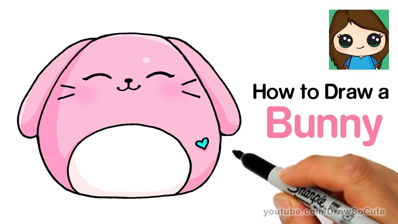 How To Draw A Cute Bunny Easy Squishy Squooshems Youtube