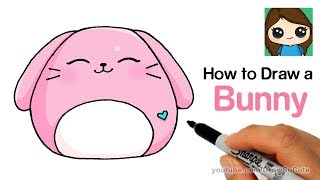 How to Draw a Cute Bunny EASY | Squishy Squooshems