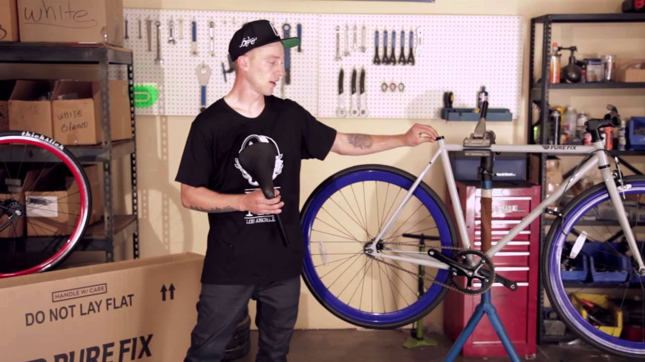 737708f90fd How to assemble your Pure Fix Fixed Gear Bike - YouTube