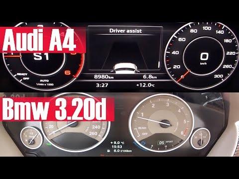 Audi A4 vs Bmw 320d   Aynı Güçteki Dizeller