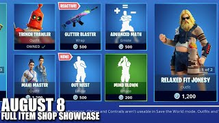 Fortnite Item Shop - August 8 2020 (Fortnite Battle Royale)