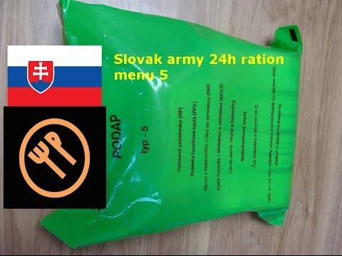 Slovak army 24h ration (PODAP) menu 5 - BB 2017