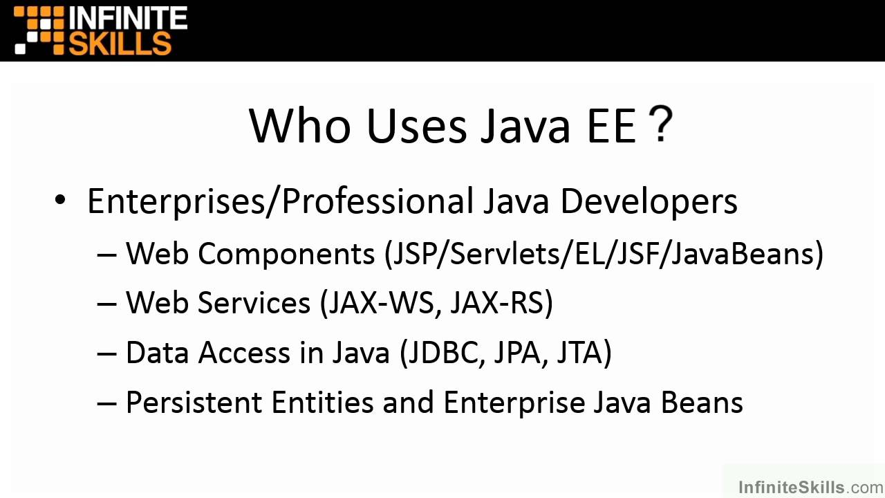 Java ee 7 tutorial what is java ee and who uses it youtube java ee 7 tutorial what is java ee and who uses it baditri Gallery