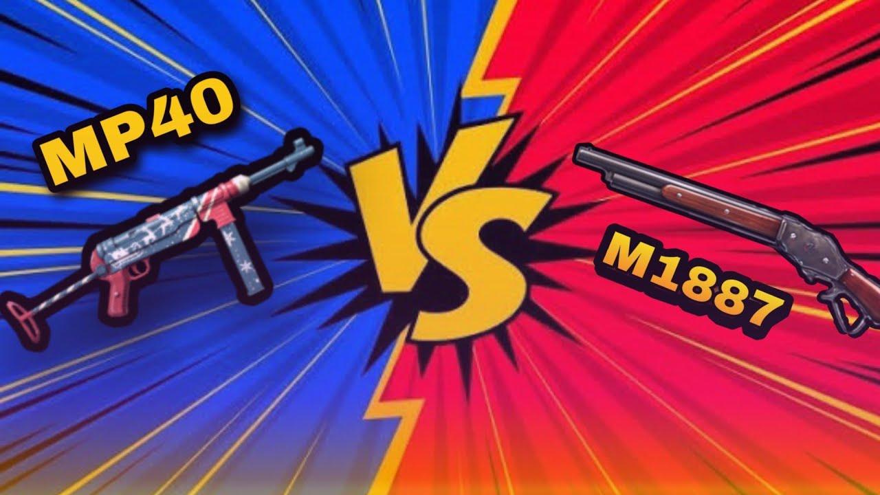 MP40 VS M1887 😱 - FREE FIRE