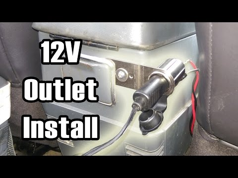 Installing an Auxiliary 12v Outlet