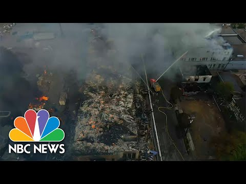 Drone Footage Shows Burning Buildings In Minneapolis After George Floyd Protests