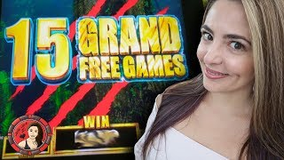 15 GRAND Free Games on Tarzan Slot Machine at Red Rock!