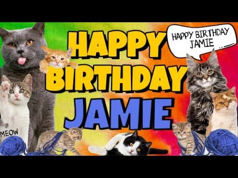 Happy Birthday Jamie Crazy Cats Say Happy Birthday Jamie Very Funny Youtube