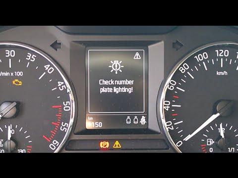 Skoda Octavia 3 Led License Plate Bulb Coding