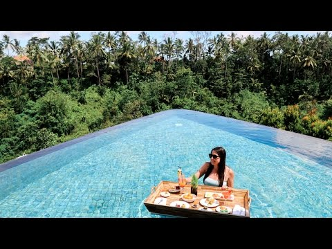 Hiking A Volcano Incredible Infinity Pool Ubud Bali Travel
