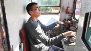 18yr old Arnold drives a real full-sized passenger train like a boss