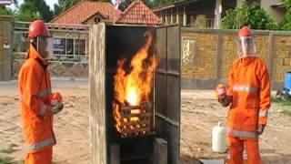 Elide Fire Ball Testing Class *A by the manufacturer of Siam Safety...