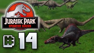 Herbivores VS Carnivores - Jurassic Park Operation Genesis [ Jurassic Park Month ]